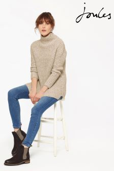 Joules Oat Funnel Neck Prunella Jumper