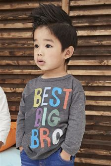 Long Sleeve Best Big Brother T-Shirt (3mths-6yrs)