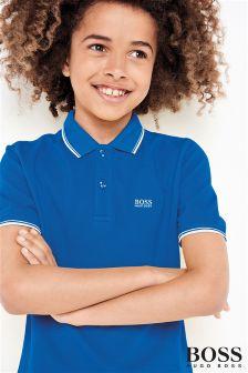 Niebieska koszulka polo Hugo Boss Classic