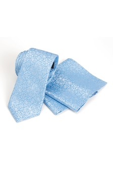 Pattern Occasion Tie And Pocket Square Set