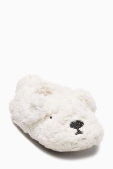 Polar Bear Slippers (Younger Girls)