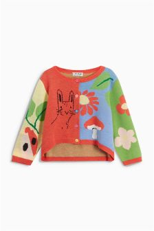 Patched Character Cardigan (3mths-6yrs)