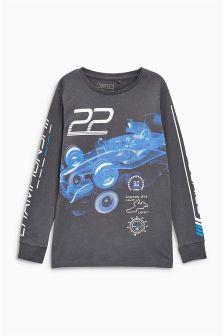 Racing Car Long Sleeve Top (3-16yrs)