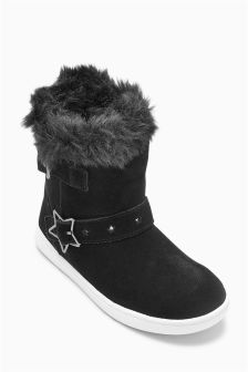 Star Buckle Pull-On Boots (Younger Girls)