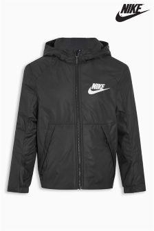 Nike Black Fleece Lined Sportswear Jacket