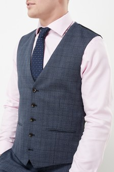 Signature Check Tailored Fit Suit: Waistcoat
