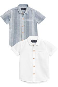 Lot de deux chemises en lin à manches courtes (3 mois - 6 ans)