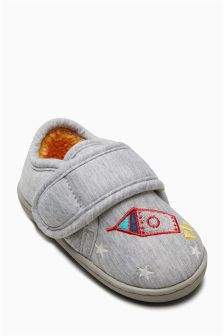 Space Glow In The Dark Slippers (Younger Boys)