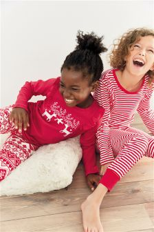 Reindeer Snuggle Pyjamas Two Pack (3-16yrs)