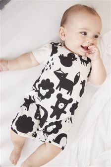 Printed Dungarees (0mths-2yrs)