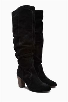 Suede Slouch Long Boots