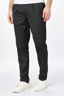 Half Elasticated Waistband Pleated Trousers