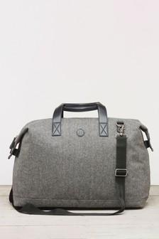 Дорожная сумка с узором «елочка»