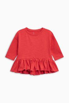 腰饰长袖上衣 (3个月-6岁)