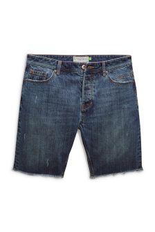 Regular Fit Frayed Hem Shorts