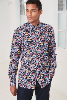 Multi Floral Print Slim Fit Shirt