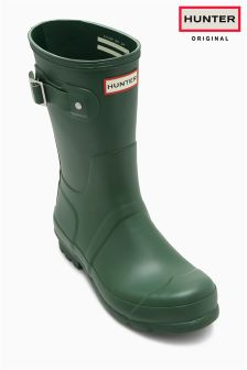 Hunter Original Matt Green Short Wellington Boot