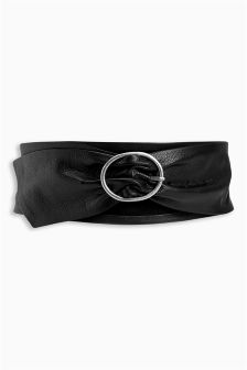 Wide Soft Leather Belt