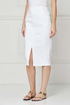 Button Pencil Skirt
