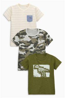 Набор из трех футболок с коротким рукавом (3 мес.-6 лет)