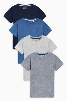 Textured T-Shirts Four Pack (3-16yrs)