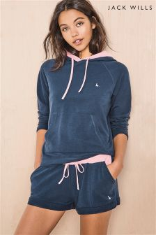 Jack Wills Navy/Pink Textured Short