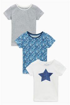 Star T-Shirts Three Pack (3mths-6yrs)