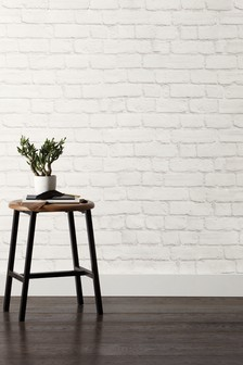 Paste The Wall White Painted Bricks Wallpaper