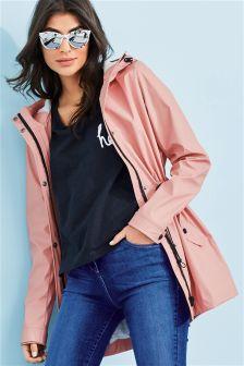 Матовая куртка с эффектом прорезиненной ткани