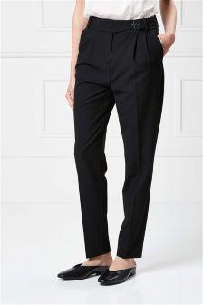 Belt Detail Taper Trousers