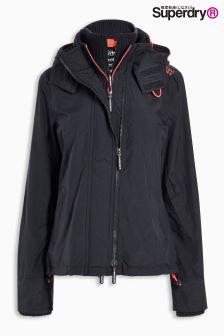 Superdry Charcoal Zip Hooded Arctic Windcheater Jacket
