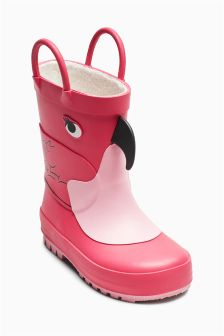 Flamingo Wellies (Younger Girls)