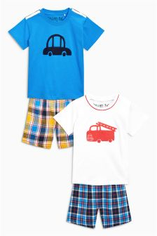 Woven Check Pyjamas Two Pack (9mths-8yrs)