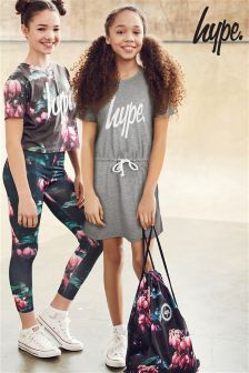Hype Grey Waistband Tee Dress