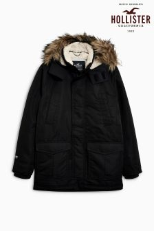 Hollister Faux Fur Hood Parka Jacket