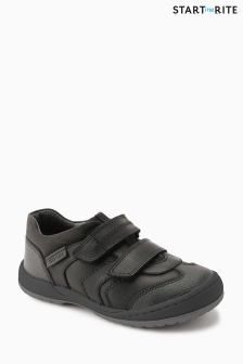 Start-Rite Black Flexy Tough Pre Leather Shoe