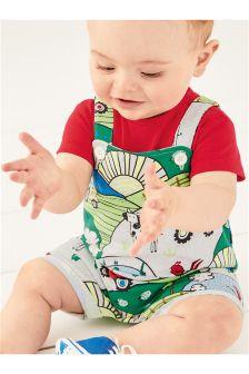 短款背带裤 (0个月-2岁)