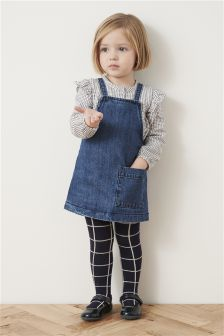 Pini With Grid Blouse And Tights Set (3mths-6yrs)