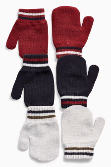 Mittens Three Pack (Younger Boys)