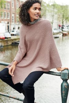 Sequin Knitted Poncho