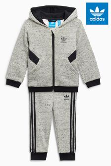 adidas Originals Infant Grey Hooded Tracksuit