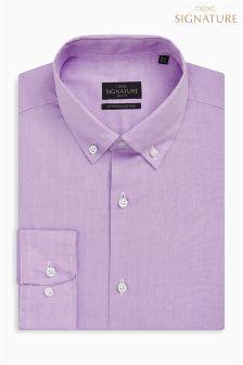 Signature Egyptian Cotton Button Down Collar Slim Fit Shirt