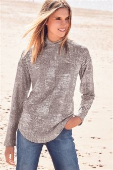 Sparkle Roll Neck Top