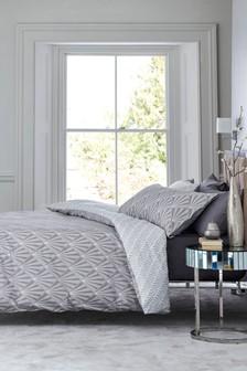 Комплект постельного белья с узором из зонтиков в стиле арт-деко