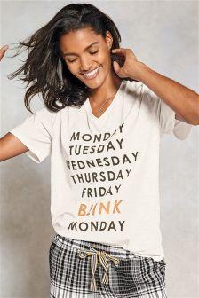 Weekdays Slogan T-Shirt