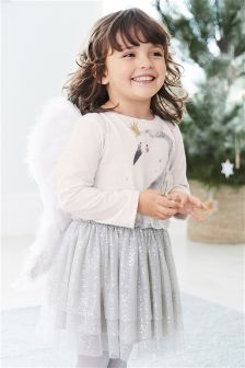 Christmas Swan Dress (3mths-6yrs)