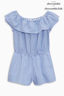 Abercrombie & Fitch Blue Cold Shoulder Dress