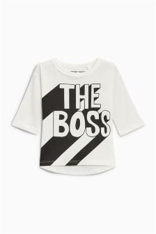 Long Sleeve The Boss T-Shirt (3mths-6yrs)