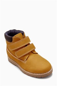 Double Strap Work Boots (Younger Boys)