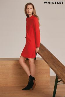 Whistles Red Scallop Dress